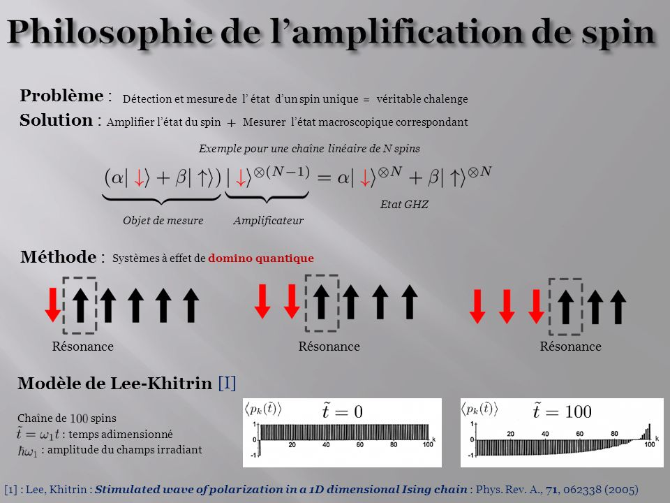Philosophie de l'amplification de spin