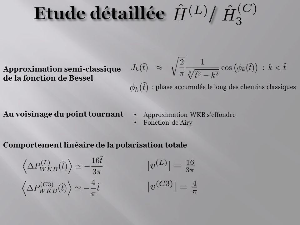 Etude détaillée / Approximation semi-classique