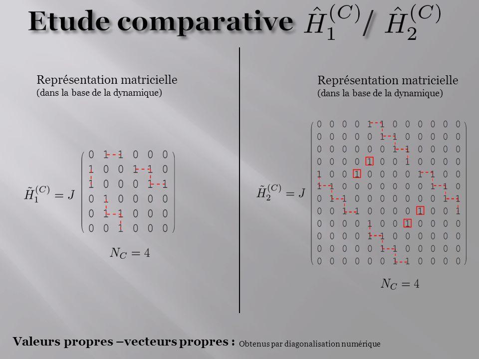 Etude comparative / Représentation matricielle