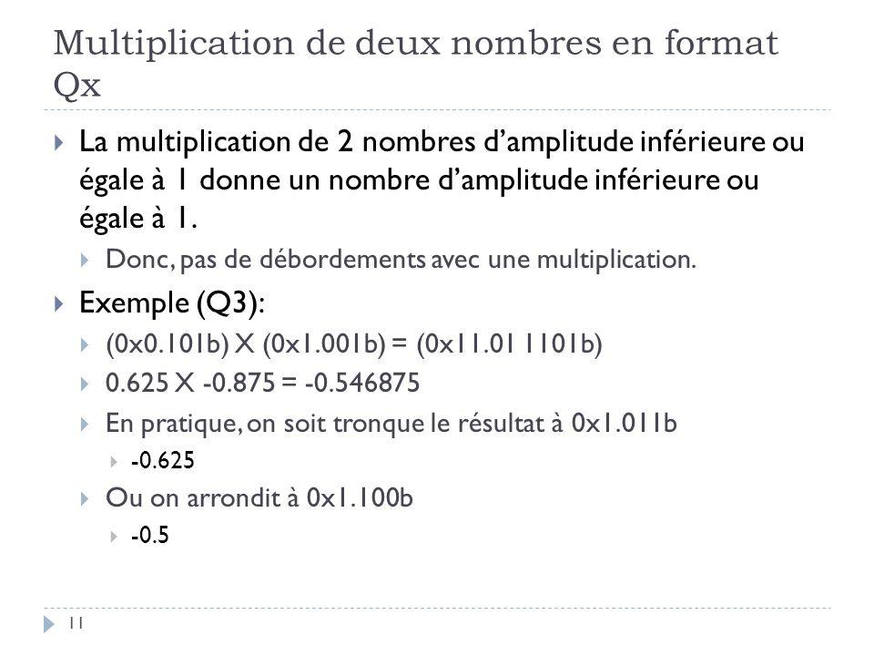 Multiplication de deux nombres en format Qx