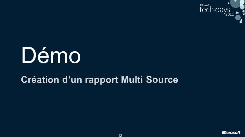 Création d'un rapport Multi Source
