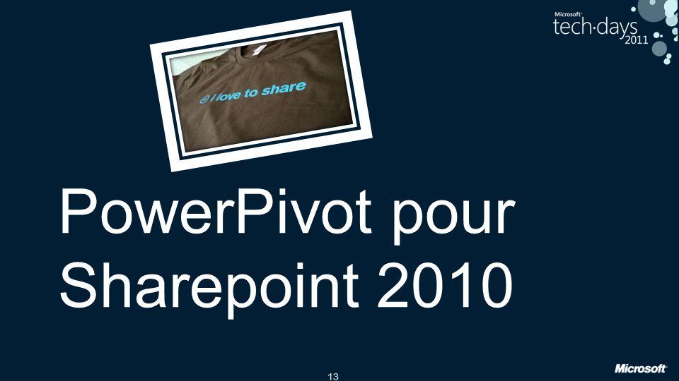 PowerPivot pour Sharepoint 2010