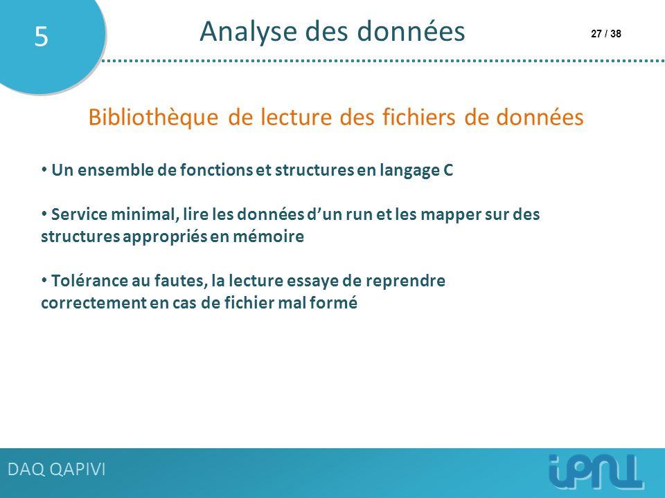 Analyse des données 5 Bibliothèque de lecture des fichiers de données
