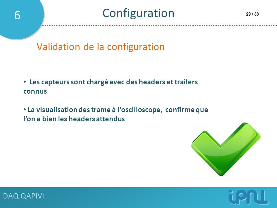 Configuration 6 Validation de la configuration DAQ QAPIVI