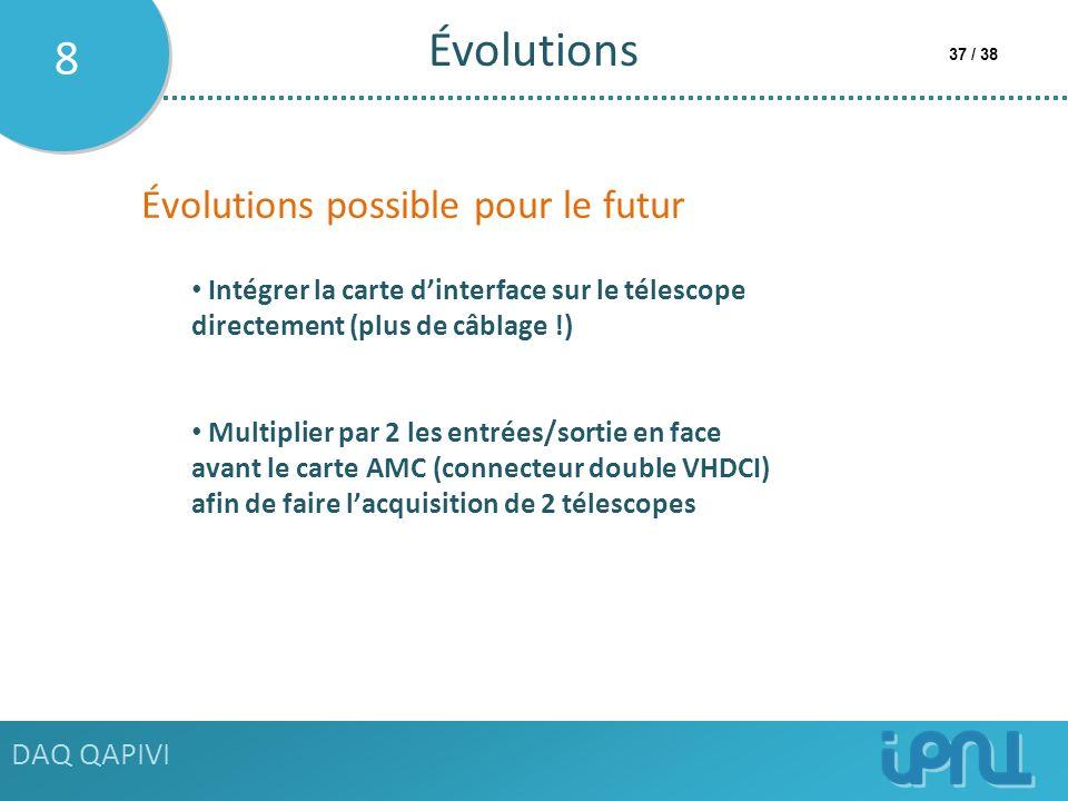 Évolutions 8 Évolutions possible pour le futur DAQ QAPIVI