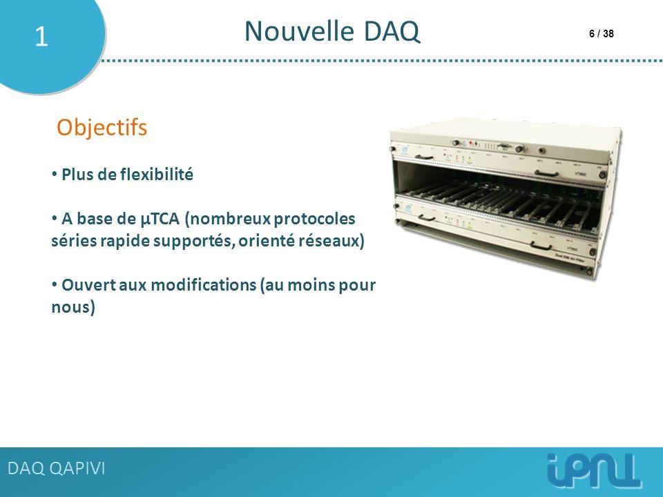 Nouvelle DAQ 1 Objectifs DAQ QAPIVI Plus de flexibilité
