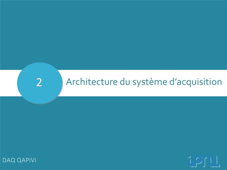 2 Architecture du système d'acquisition DAQ QAPIVI 7