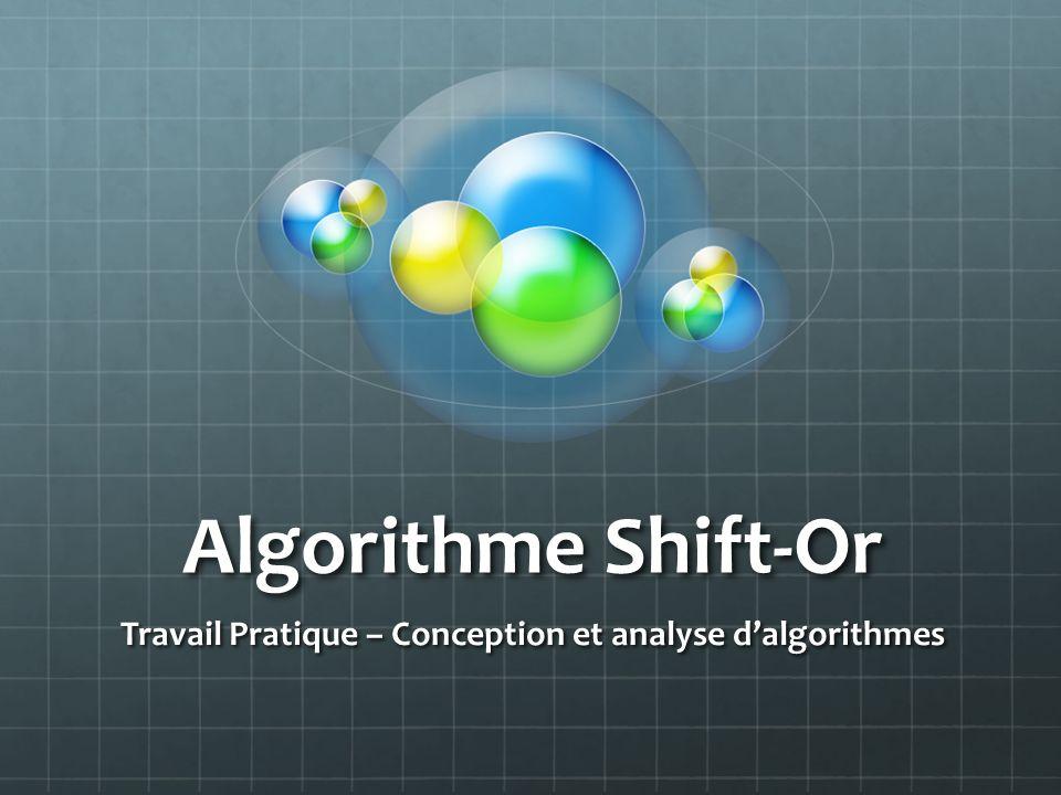 Travail Pratique – Conception et analyse d'algorithmes