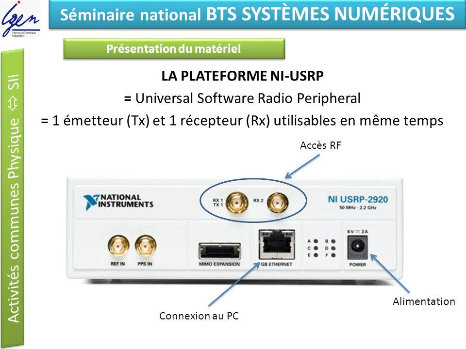Séminaire national BTS SYSTÈMES NUMÉRIQUES Présentation du matériel