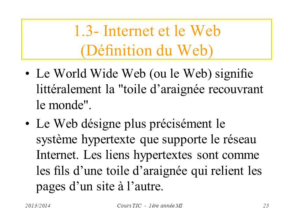 1.3- Internet et le Web (Définition du Web)
