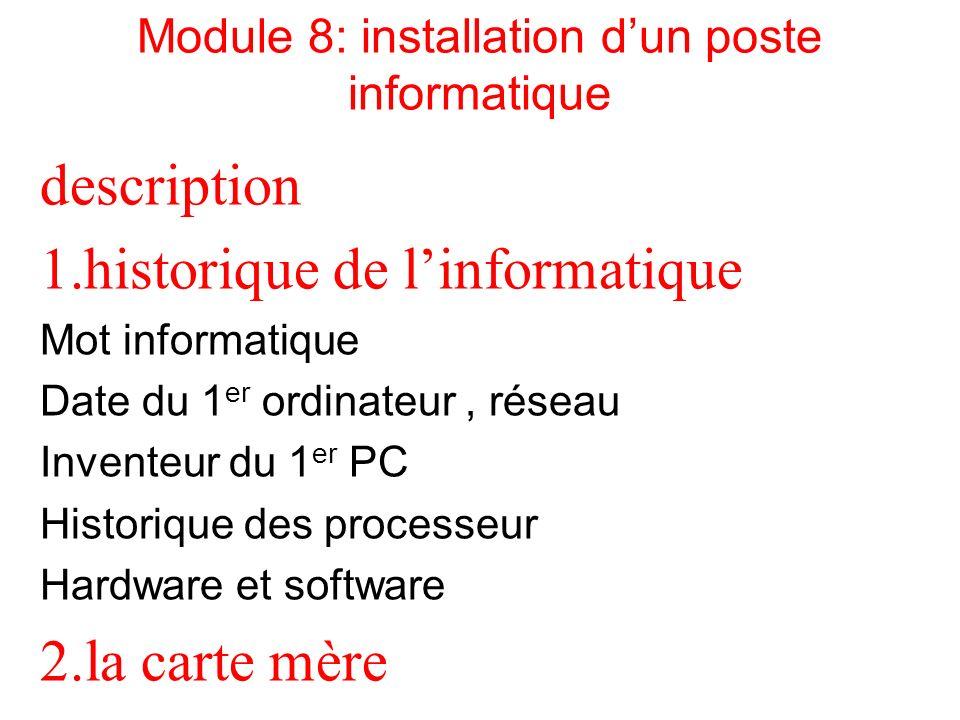 Module 8: installation d'un poste informatique