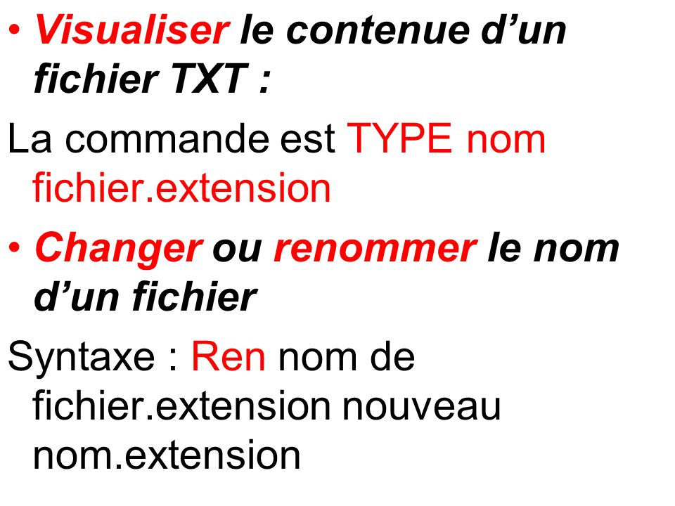 Visualiser le contenue d'un fichier TXT :
