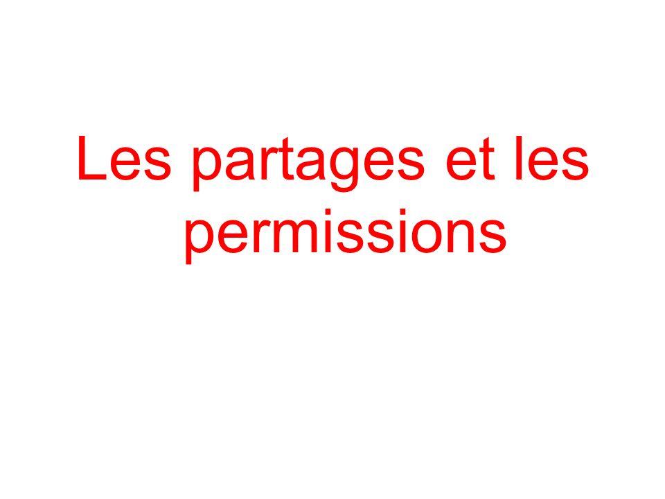 Les partages et les permissions