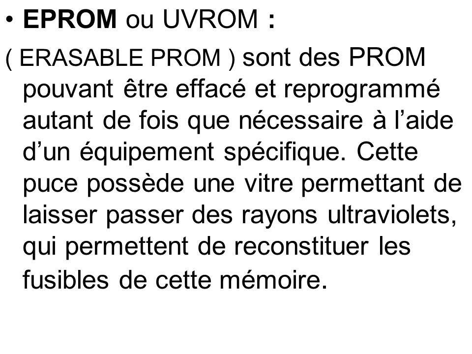 EPROM ou UVROM :