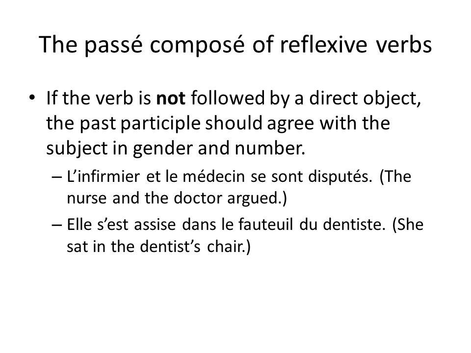 The passé composé of reflexive verbs