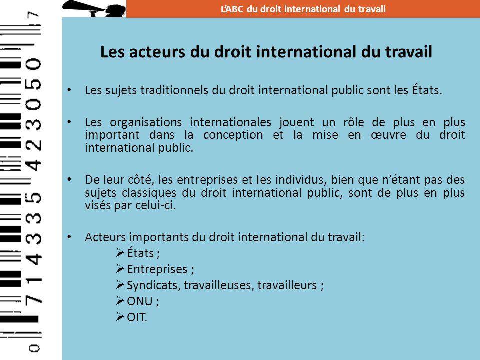 Les acteurs du droit international du travail