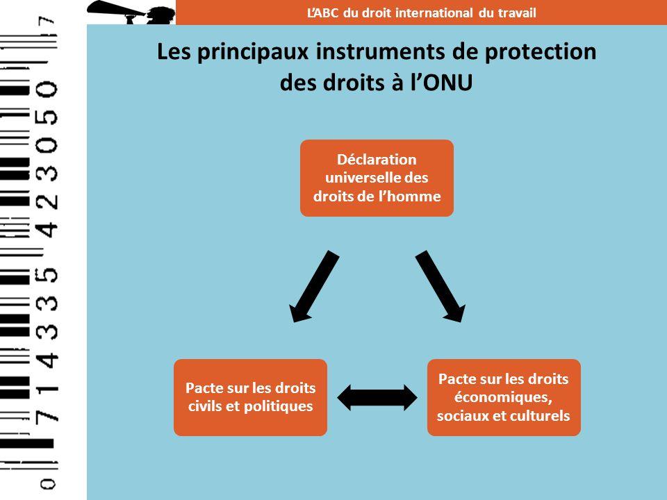 Les principaux instruments de protection des droits à l'ONU