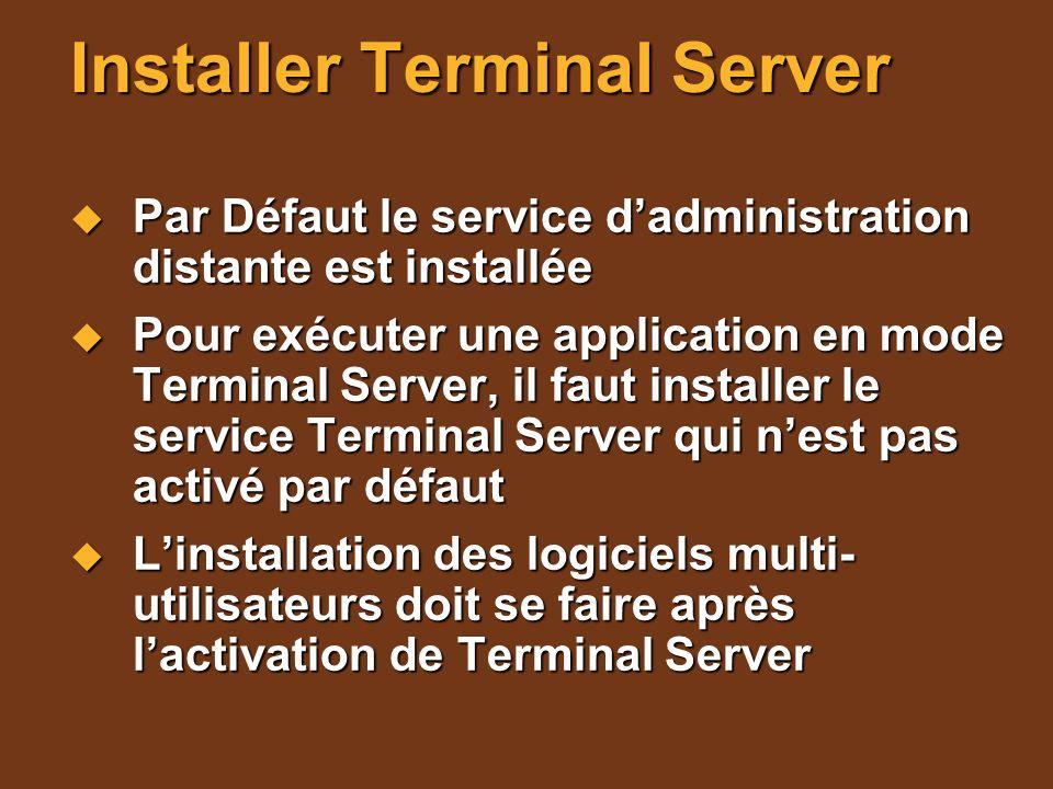 Installer Terminal Server