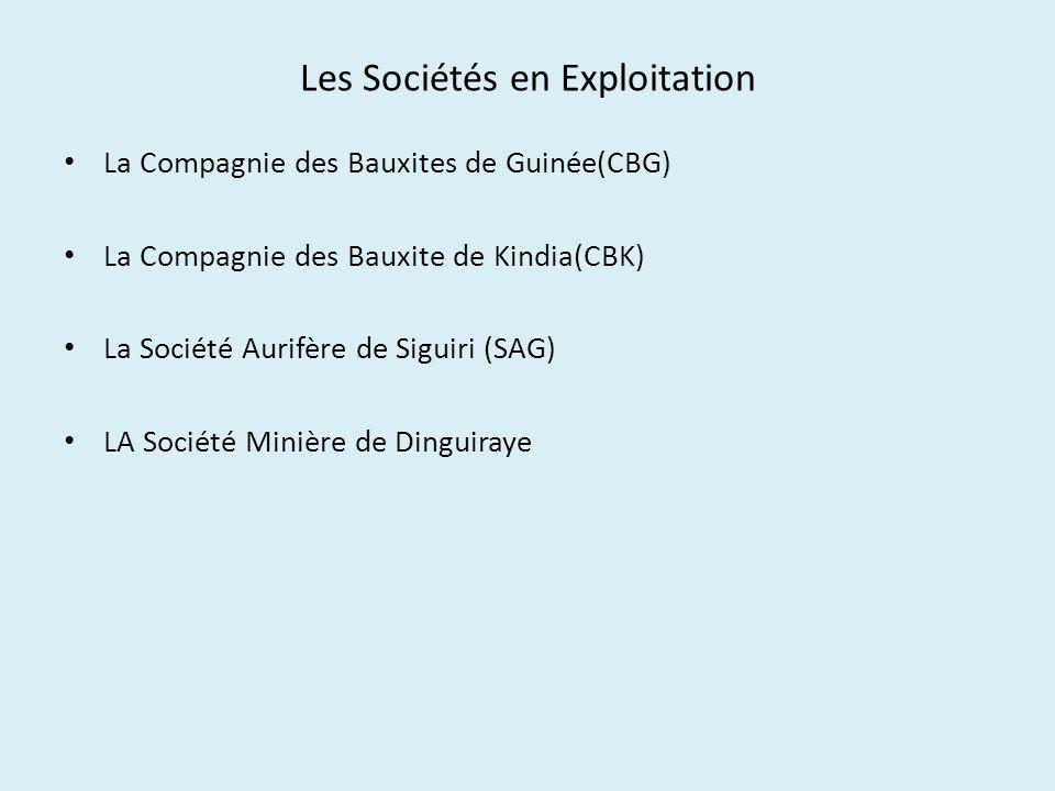 Les Sociétés en Exploitation