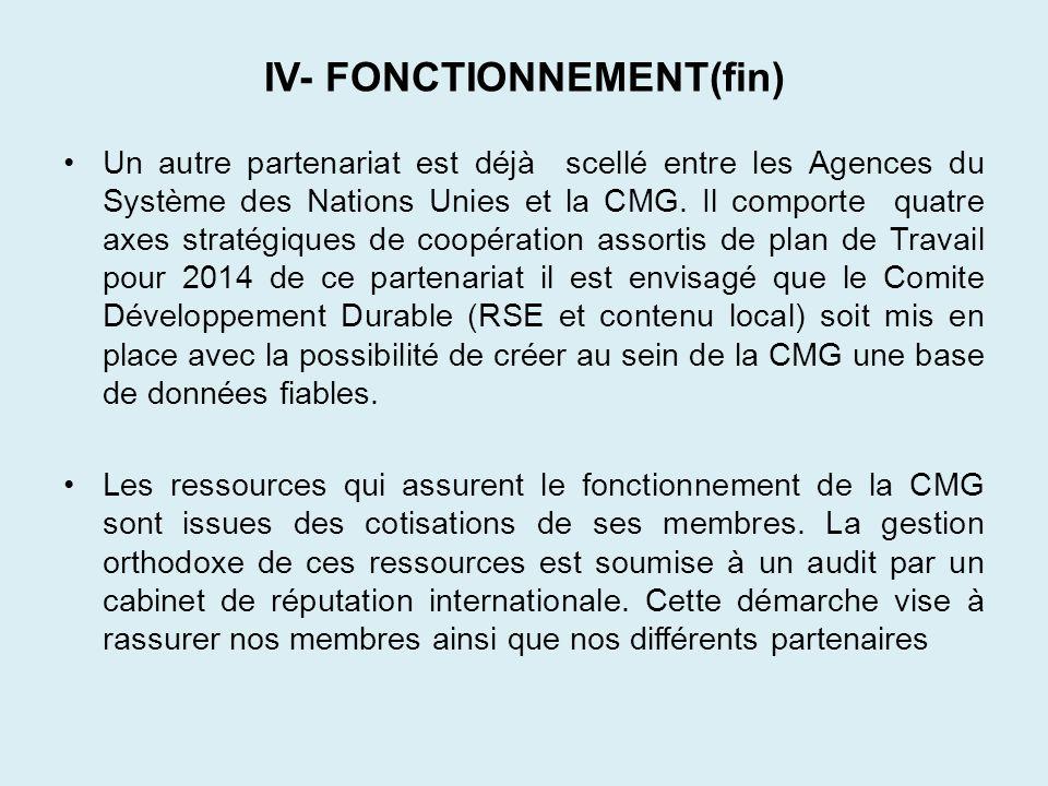 IV- FONCTIONNEMENT(fin)