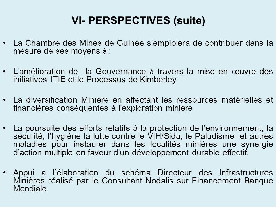 VI- PERSPECTIVES (suite)