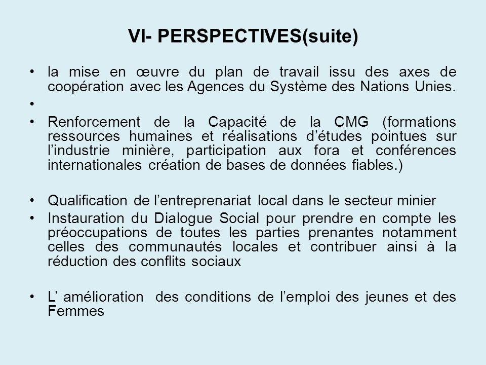 VI- PERSPECTIVES(suite)