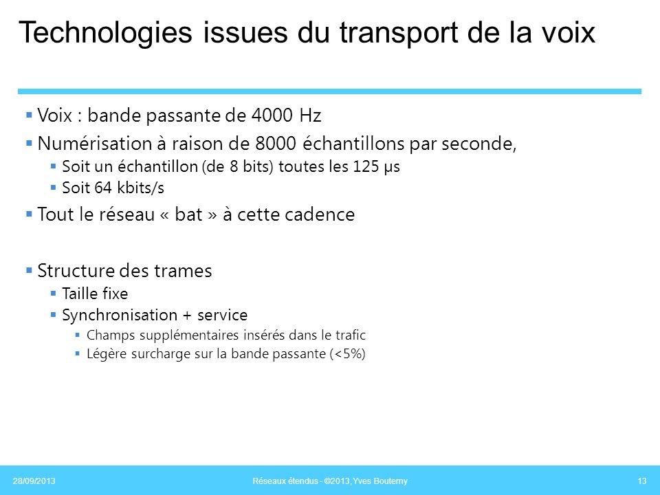 Technologies issues du transport de la voix