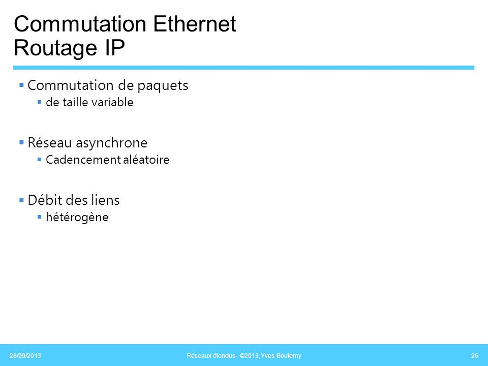 Commutation Ethernet Routage IP