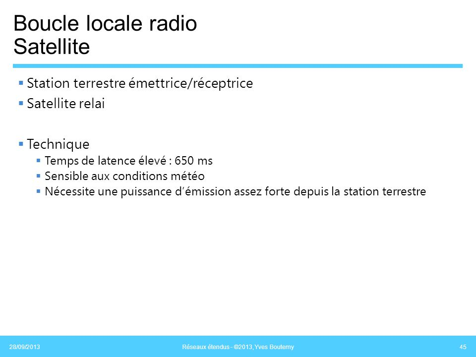 Boucle locale radio Satellite
