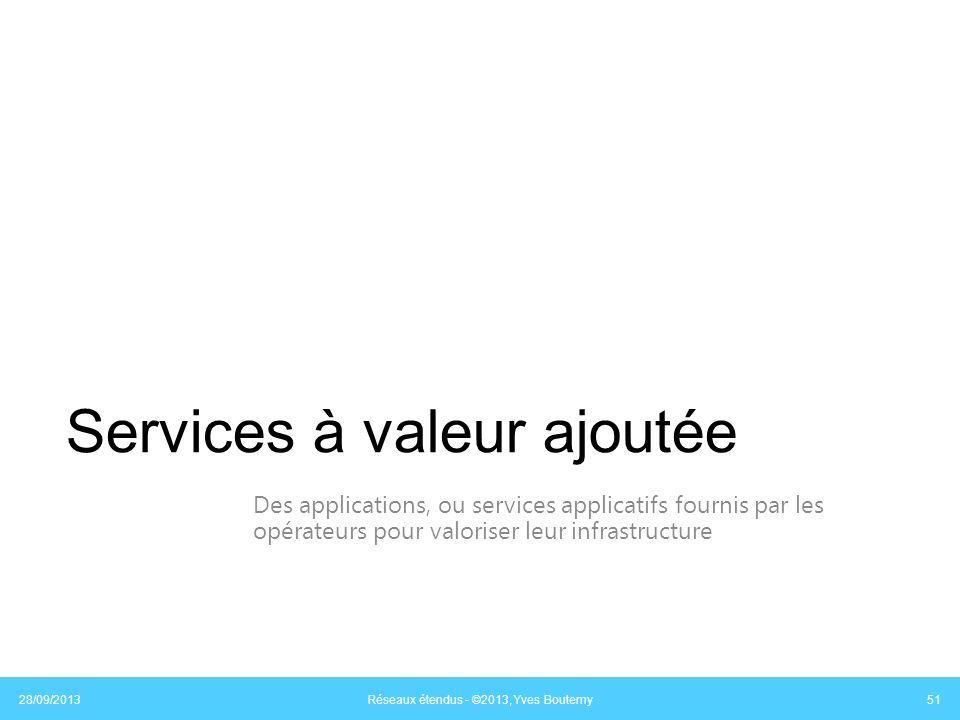 Services à valeur ajoutée