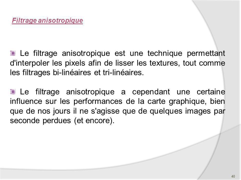 Filtrage anisotropique