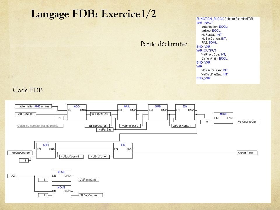 Langage FDB: Exercice1/2