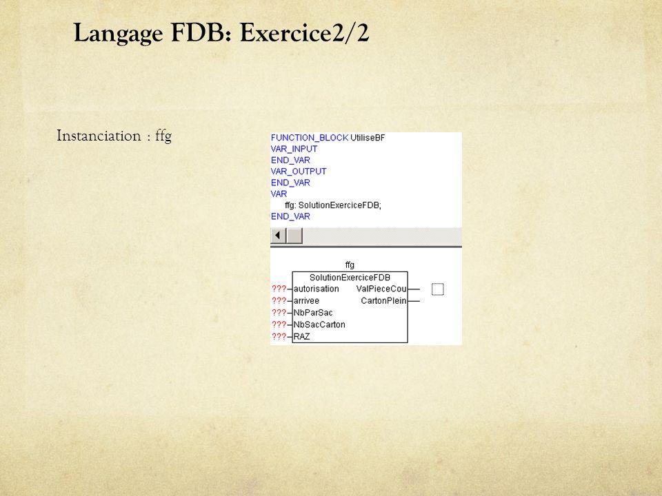 Langage FDB: Exercice2/2