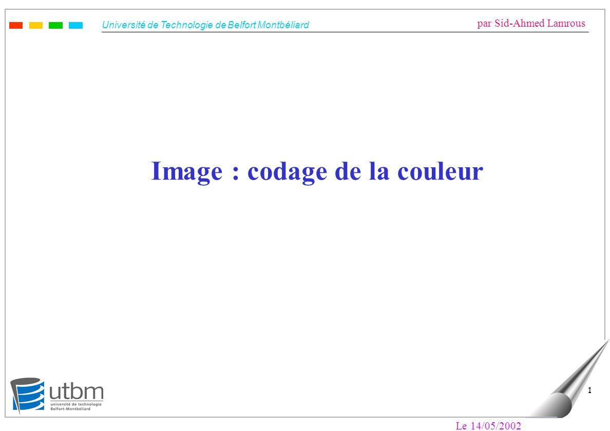 Image : codage de la couleur