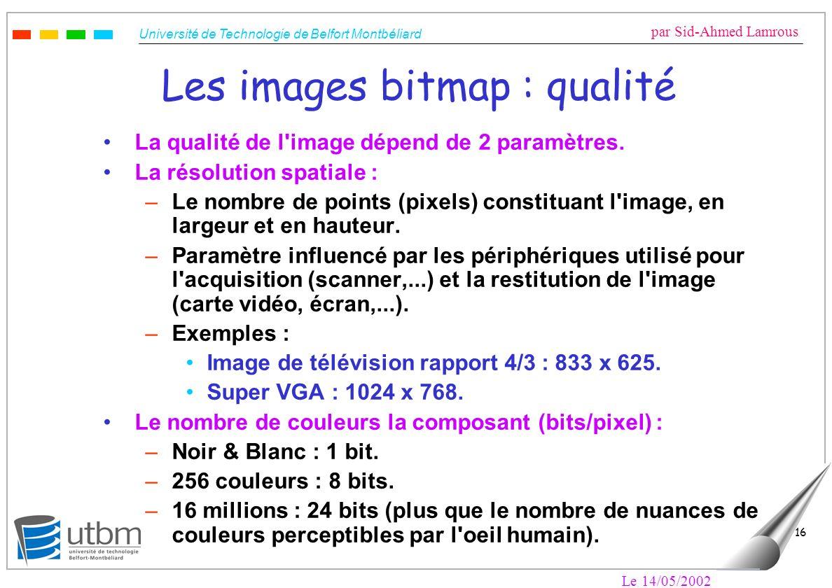 Les images bitmap : qualité