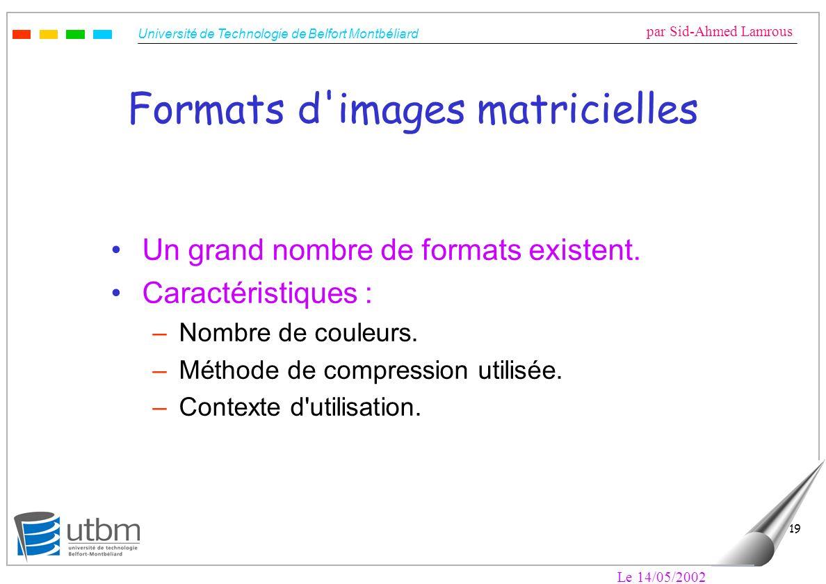 Formats d images matricielles