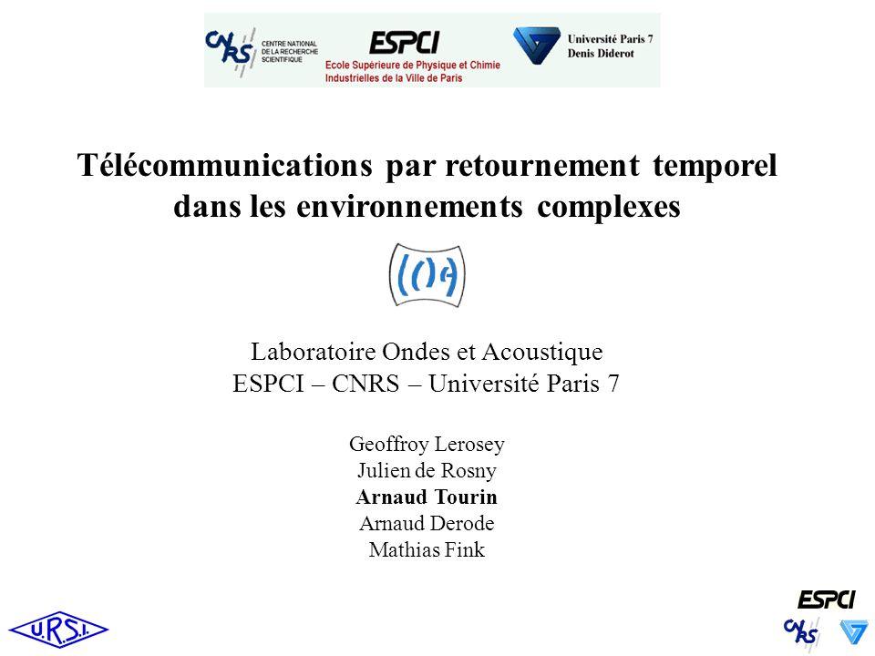 Télécommunications par retournement temporel dans les environnements complexes