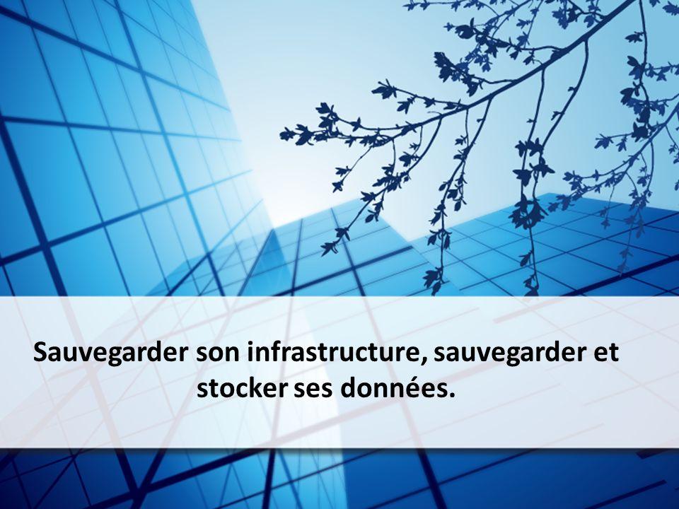 Sauvegarder son infrastructure, sauvegarder et stocker ses données.