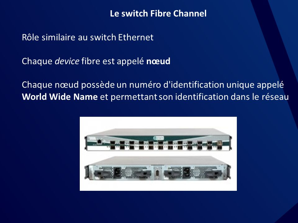 Le switch Fibre Channel
