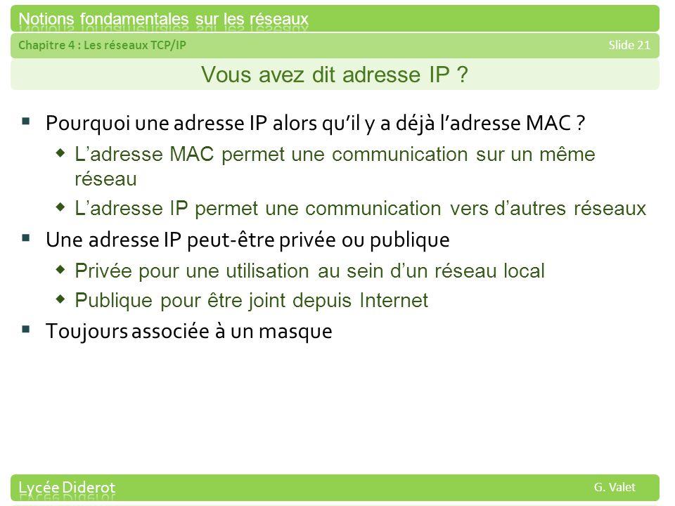 Vous avez dit adresse IP