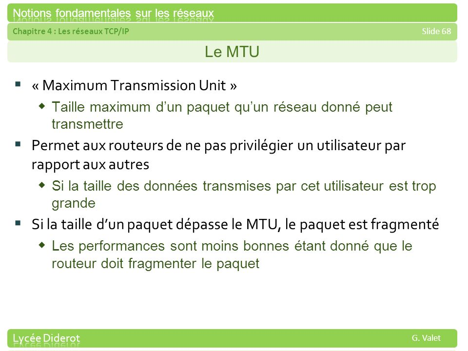 « Maximum Transmission Unit »