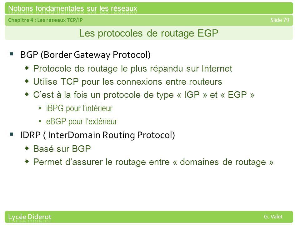 Les protocoles de routage EGP