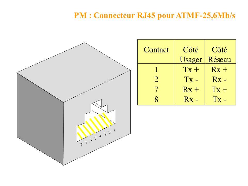 PM : Connecteur RJ45 pour ATMF-25,6Mb/s