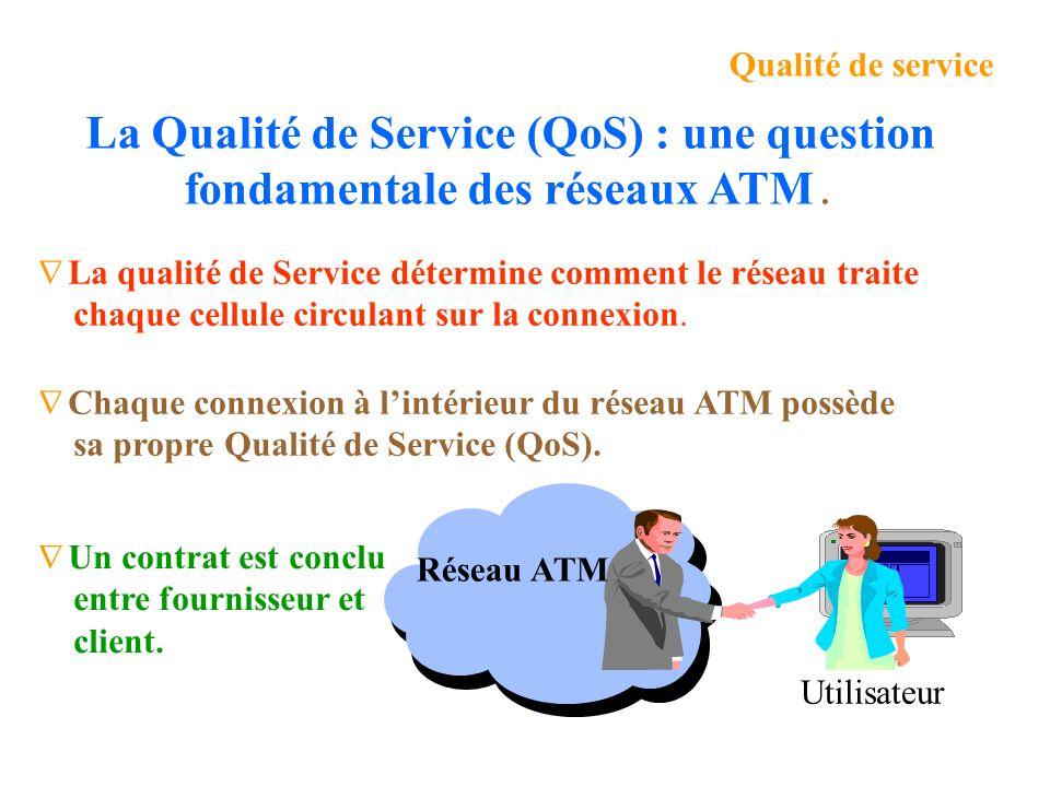 La qualité de Service détermine comment le réseau traite