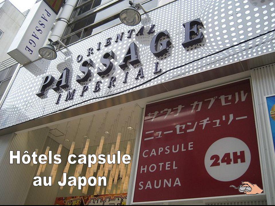 Hôtels capsule au Japon