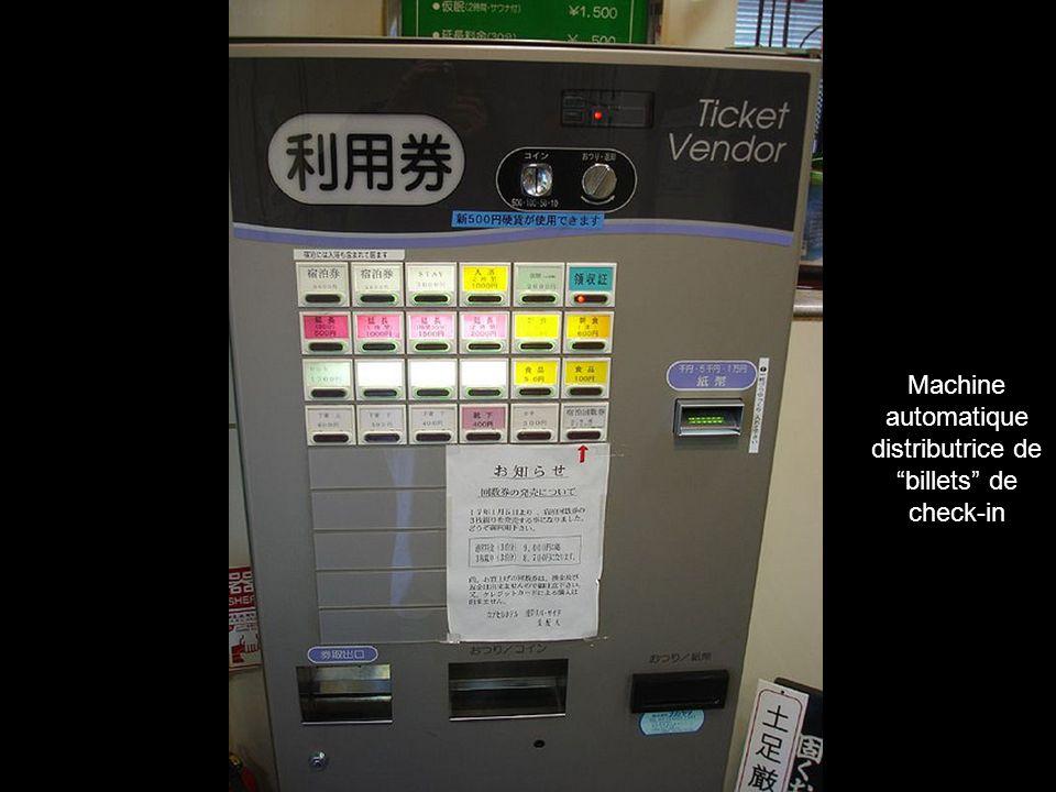 automatique distributrice de billets de check-in