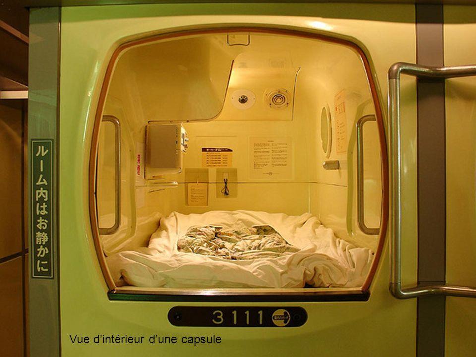 Vue d'intérieur d'une capsule