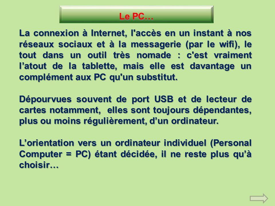 Le PC…