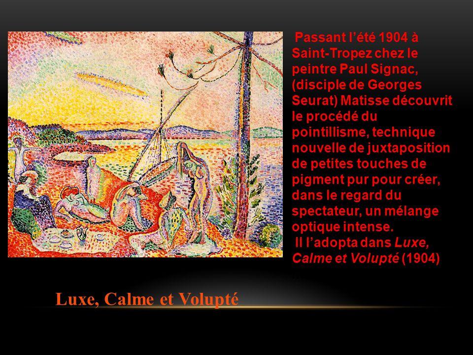 Passant l'été 1904 à Saint-Tropez chez le peintre Paul Signac,