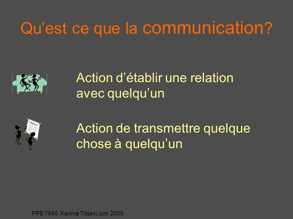Qu'est ce que la communication